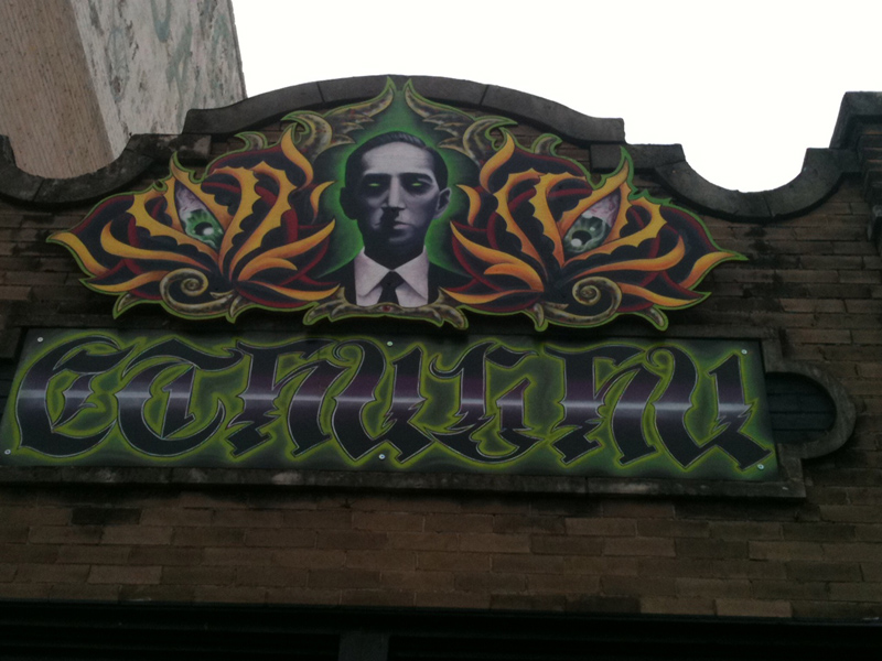 The Cthulu Shop storefront, San Antonio, Texas