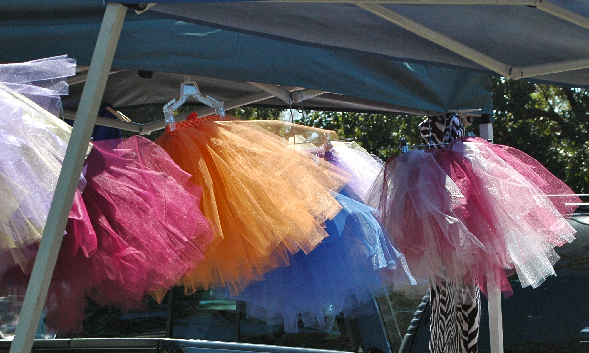 Tutus at a church bazaar