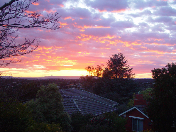 Sunrise from the Terrace (Victoria, Austra