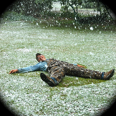 East Texas snow angel