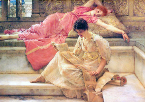 Sir Lawrence Alma-Tadema, The Favourite Poet (1888) Private Collection