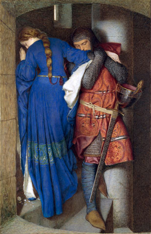 F.W. Burton, The Meeting on the Turret Stairs (1864) National Gallery of Ireland
