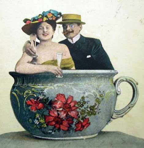 It must be love. Antique postcard.