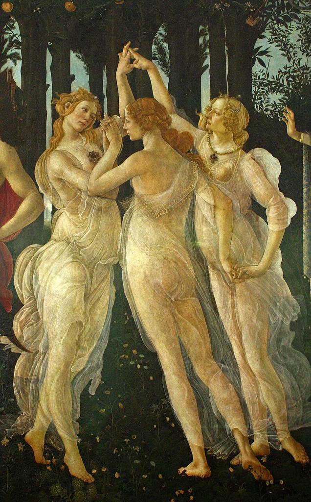 Alessandro Botticelli (1445-1510), La Primavera (detail), Galleria degli Uffizi