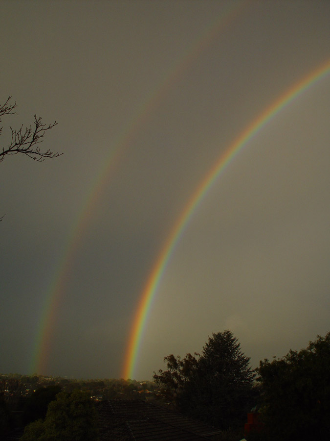 Afternoon of Double Rainbows, Rosanna, Victoria (Australia) June 2012